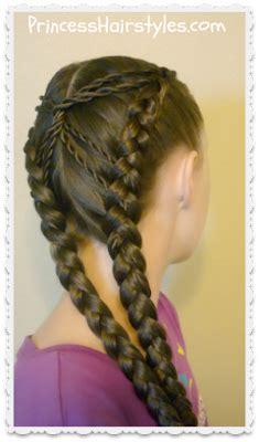hourglass braid cute hairstyles hairstyles  girls princess hairstyles