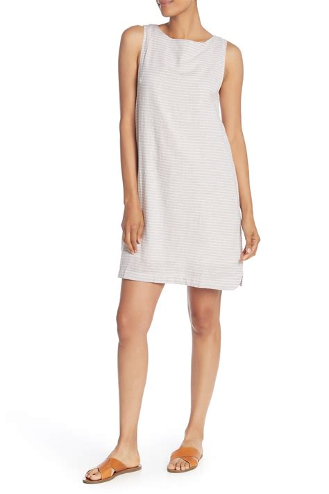 Beachlunchlounge Linen by Beachlunchlounge Linen Blend Crew Neck Tank Dress Nordstrom Rack
