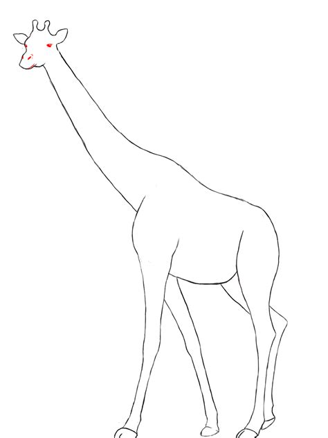 how to draw a giraffe doodle giraffe side drawing