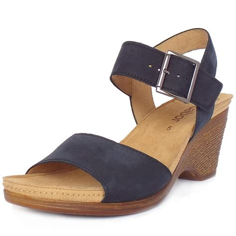 navy sandals gabor space s comfortable light weight wedge