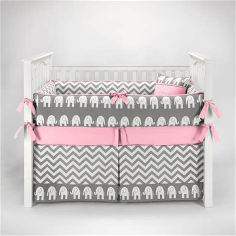 Pink And Grey Crib Bedding Sets For Baby Girls Nursery Pink And Grey Crib Bedding Sets