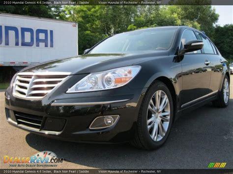 2010 Hyundai Genesis 4 6 2010 hyundai genesis 4 6 sedan black noir pearl saddle