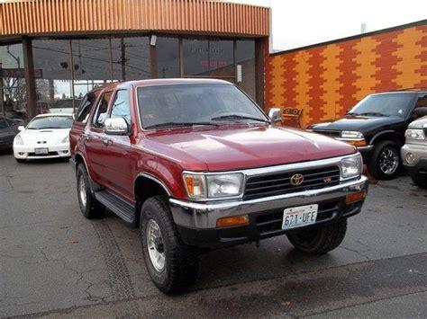 1995 Toyota 4runner Tire Size 1995 Toyota 4runner Lt 4d 8 Ft Details Seattle Wa