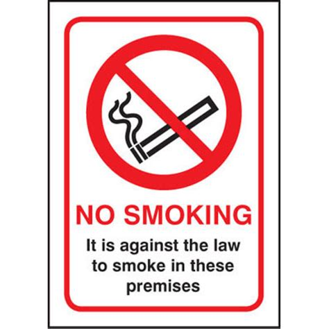 no smoking sign law proshield safety signs road signs fire safety signs