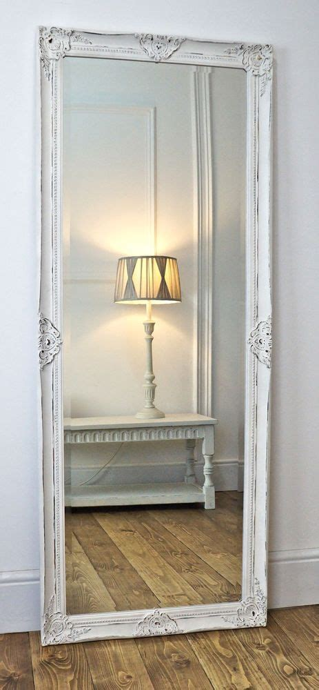 shabby chic bedroom mirrors gerona white shabby chic full length vintage dress mirror