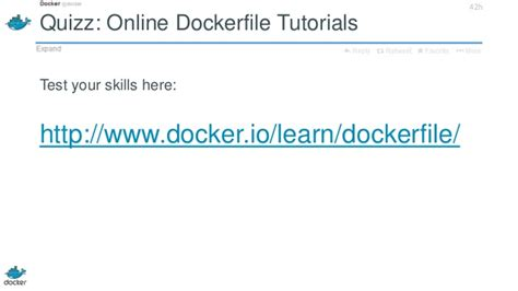 tutorial dockerfile dockerfile basics docker workshop 2 at twitter 2013 11 05