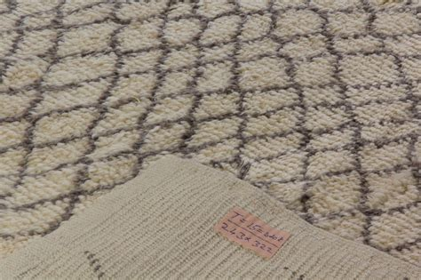 gray moroccan rug contemporary moroccan rug made of ivory and gray wool for sale at 1stdibs