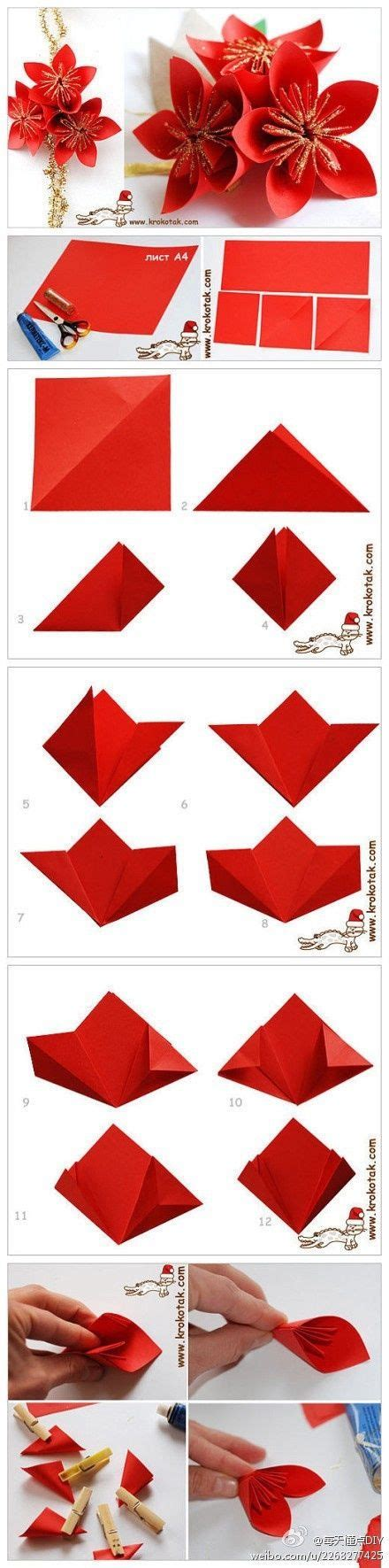 Origami Poinsettia Flower - origami poinsettia pictures photos and images for