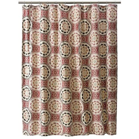 threshold medallion shower curtain 1000 images about shower curtains with yellow on