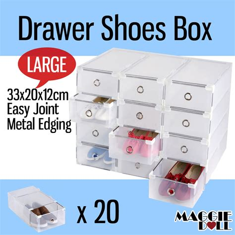 see through sneaker boxes maggiedoll 20x large see through drawer shoe storage box