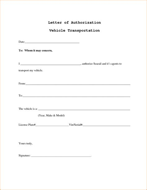 authorization letter format for registration 9 authorization letters authorizationletters org