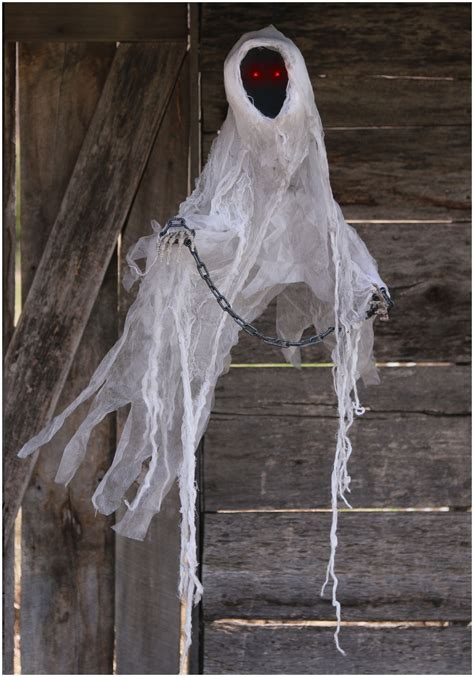 Scary Outdoor Halloween Decorations Faceless Spectre Ghost