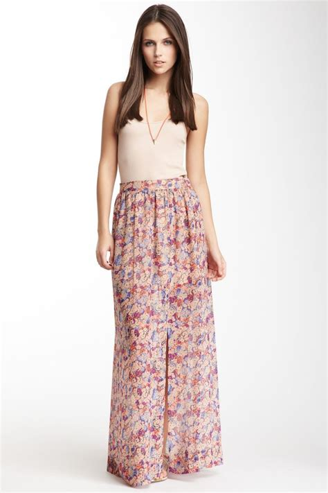 bcbgeneration floral print maxi skirt things i must