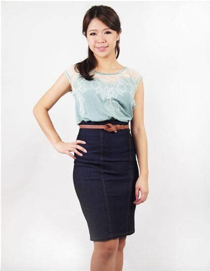 Misel Blouse Sweater Blue Misel Blose 103 best images about jean skirts styled on
