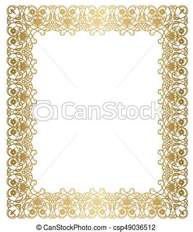 cornici oro elegante cornice oro cornice bianco ornamento fondo