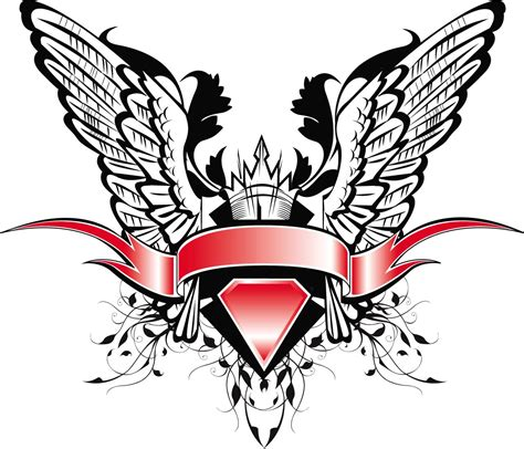 heraldic design vector wings free download