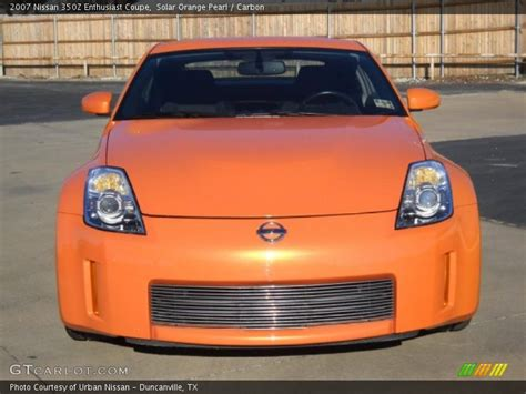 orange nissan 350z 2007 nissan 350z enthusiast coupe in solar orange pearl