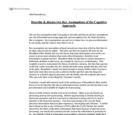 Cognitive Psychology Essay by Cognitive Psychology Essays Etdlibtutr X Fc2