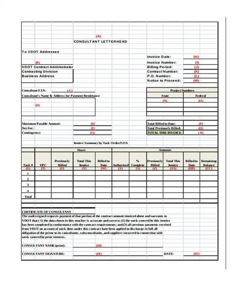 Invoice Letter For Consulting Services 34 Invoice Form Exles