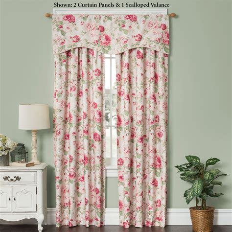 rose curtains english floral curtains