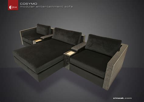 media room sofa sectionals media room and home theater sectional sofa by cineak