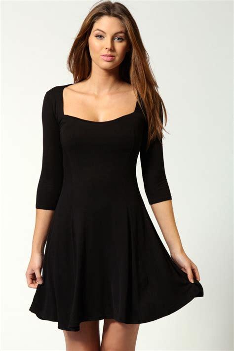 Sleeve Skater Dress black skater dress picture collection dressed up
