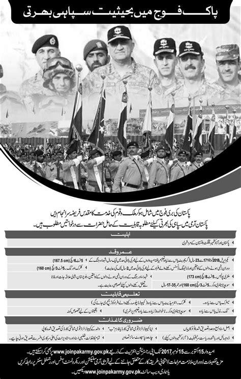 Pak Army Soldier Jobs 2018 Registration Online Last Date