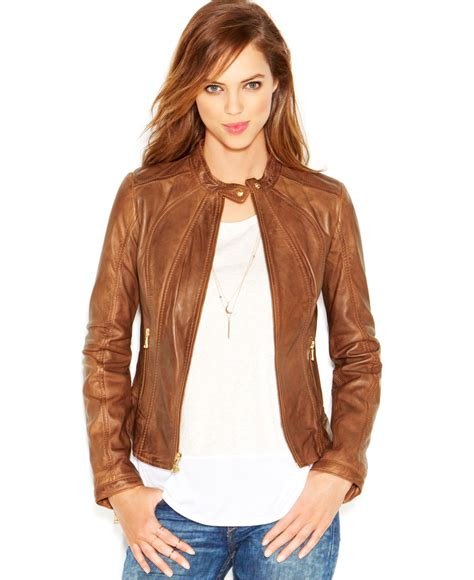 moto jacket brown faux leather moto jacket jackets review