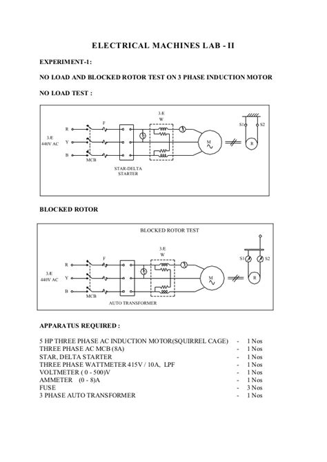 three phase induction motor no load test 2 electrical machines lab