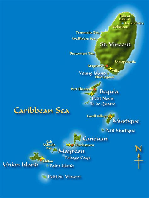 st islands map st vincent and the grenadines guide isles and isles to