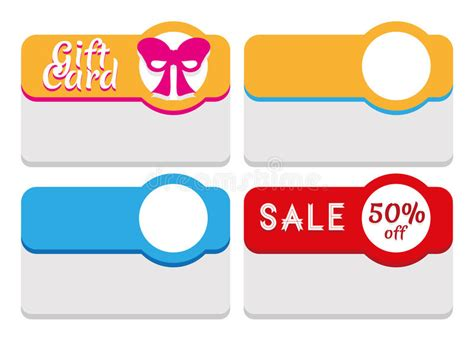 gift card tags template label tag sticker and card template stock vector