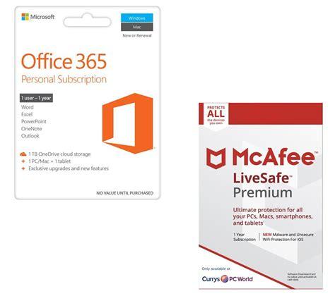 Microsoft Office 365 Personal Bundling Microsoft Office 365 Personal Livesafe Unlimited Bundle