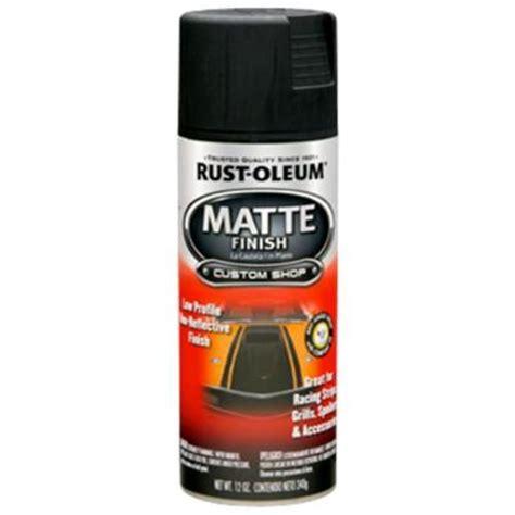 matte finish paint rust oleum automotive 12 oz black matte finish spray