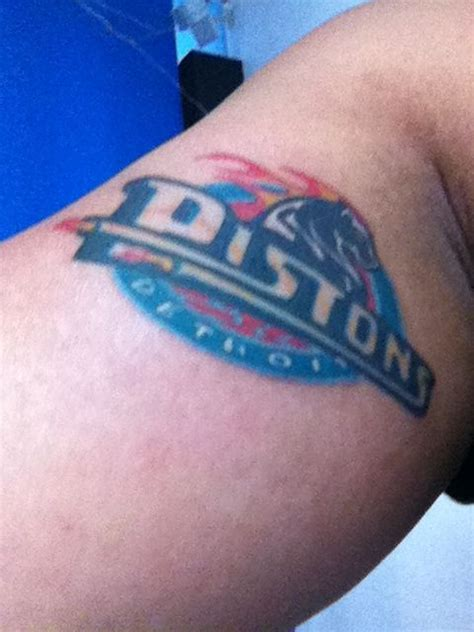 blue tattoo cafe detroit pistons by chong at blue cafe