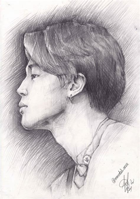 V Drawing Jimin by Jimin Portrait