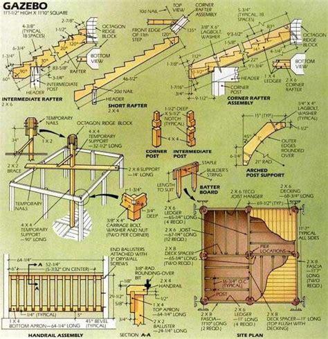 Gazebo Blueprints Plans by Gazebo Plans Images