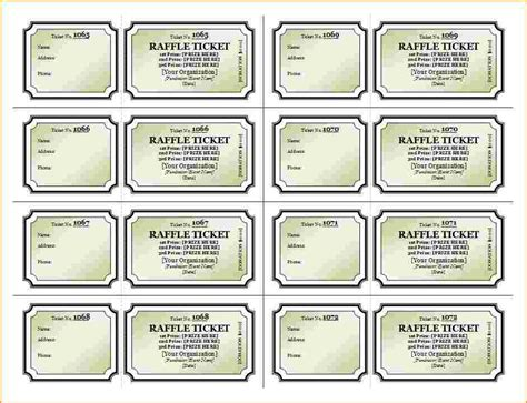 printable raffle tickets 8 raffle tickets template questionnaire template