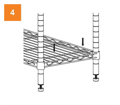 hdx wire shelving hdx 36 in x 14 in 4 tier wire shelf eh wsthdus 004r the home depot