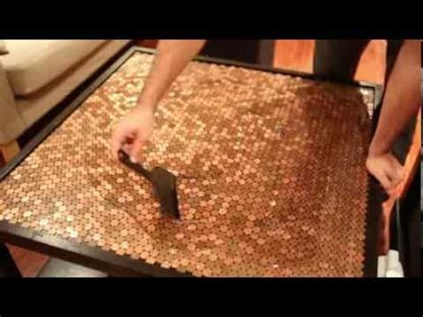 Penny Bar Top Diy Penny Table Top Project Youtube
