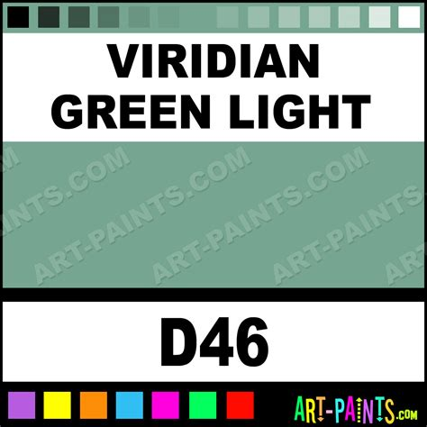 viridian green light classic watercolor paints d46 viridian green light paint viridian
