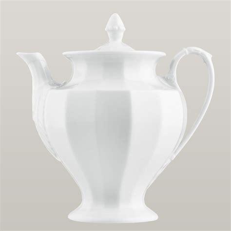 teekanne grecque weiss direkt bestellen fuerstenberg porzellan