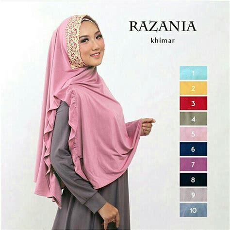 Jilbab Khimar 2017 model jilbab lebaran 2018 jilbab instan khimar razania bundaku net
