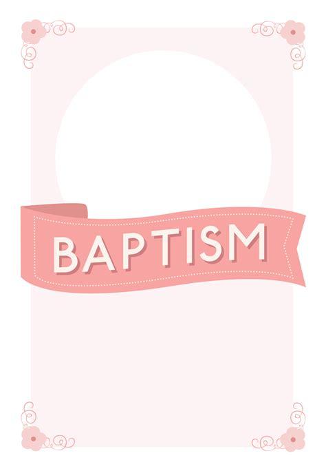 Free Printable Baptism Invitation Cards Templates by Pink Ribbon Free Printable Baptism Christening