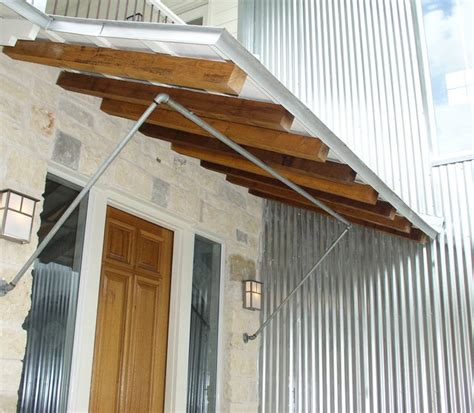 Tin Awnings Entry Porch Shed Roof And Brackets Contemporary
