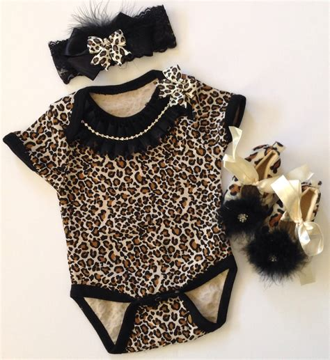 Baby girl a take me home outfit leopard by bebeblingboutique