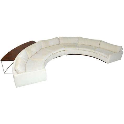 semi circle sofa milo baughman semi circle sofa w console table at 1stdibs