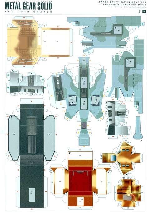 Metal Gear Rex Papercraft - construye tu propio metal gear de papel compuglobal