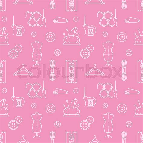 seamless pattern diy sewing equipment tailor supplies seamless pattern with