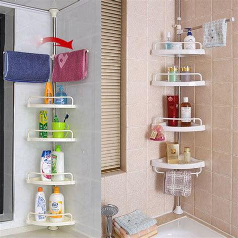 Bathroom Toiletry Storage Corner Shower Caddy Shelf Organizer Bath Storage Bathroom Toiletry Rack Us Ebay