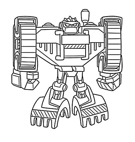 Boulder Bot Coloring Pages For Kids Printable Free Printable Rescue Bots Coloring Pages